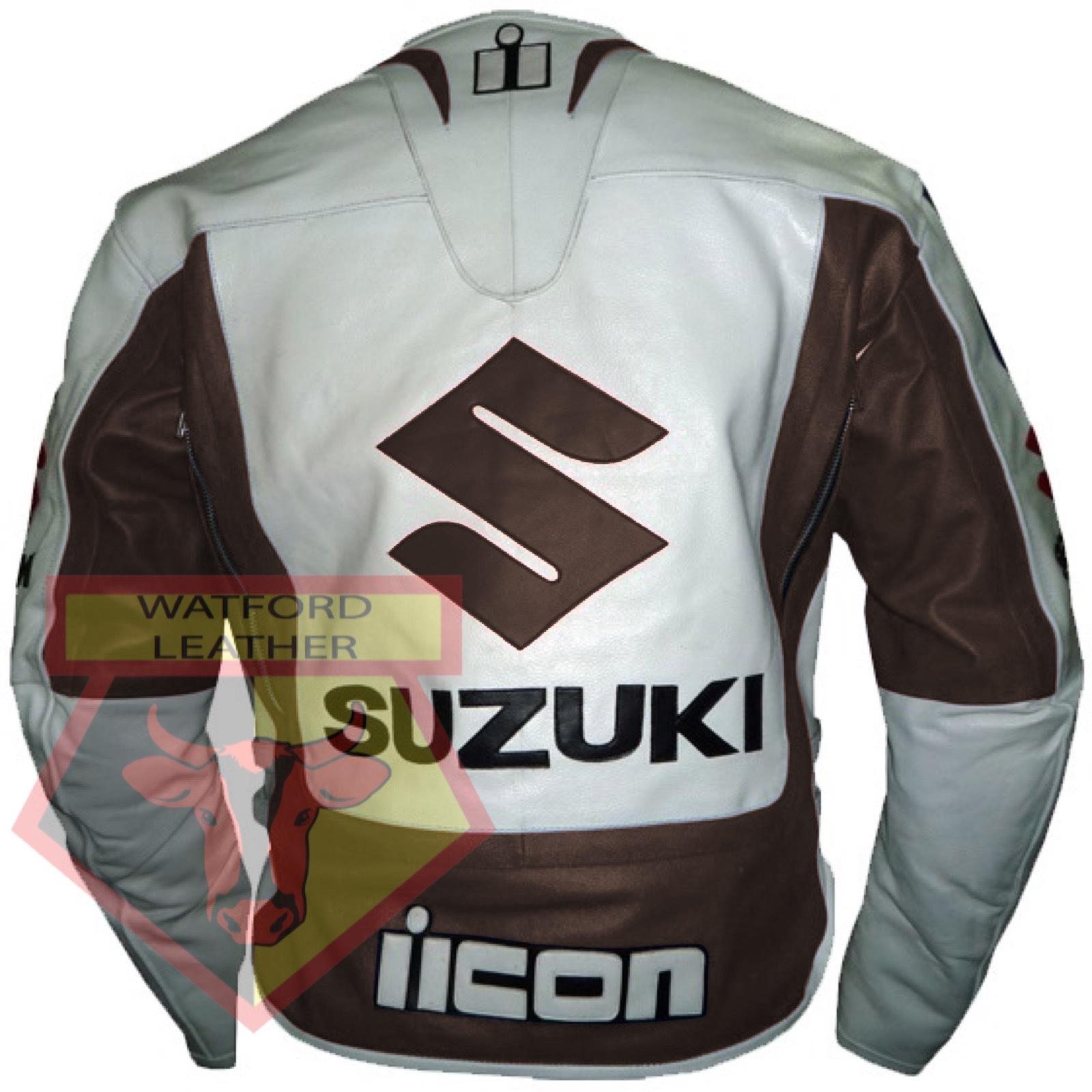 Suzuki Leather Jacket Motorcycle Leather Jacket Sports Motorbike Biker Jacket