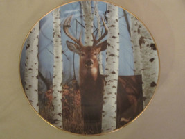 AUTUMN SENTINEL collector plate BOB TRAVERS Wildlife WHITE TAILED DEER - $19.99