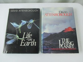 Life on Earth and The Living Planet by David Attenborough Book Lot of 2 - $15.19