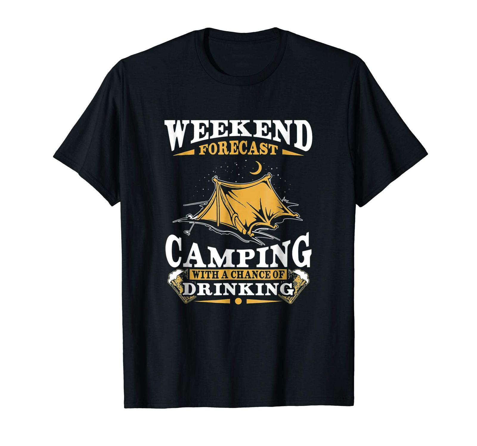 Uncle Shirts -   Weekend Forecast Camping Shirt With A Chance Of Drinking Men
