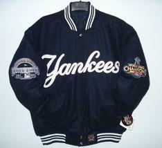 MLB New York Yankees 27 World Series Champions Wool Reversible Jacket New  - $225.97