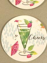 "Melamine Tidbit Appetizer Dessert Plates 6"" Set of 4 Beach House CHEERS ... - $303,85 MXN"