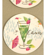 "Melamine Tidbit Appetizer Dessert Plates 6"" Set of 4 Beach House CHEERS ... - $15.72"