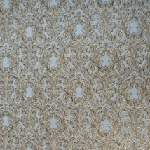Embossed Wallpaper Victorian Vintage damask gray gold brass metallic Tex... - $3.50+