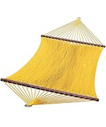 13 Sunny Golden Yellow Caribbean Tight Weave Polyester Rope Hammock - $199.48