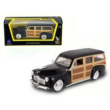 1948 Ford Woody Wagon Black 1/43 Diecast Model Car by Road Signature 94251BK - $20.15