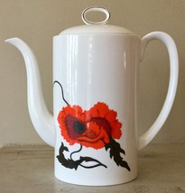 WEDGWOOD bone china coffee pot CORNPOPPY Susie Cooper Designs - $107.53