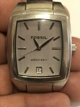 Fossil Arkitekt FS-2992 All Stainless Steel Quartz Analog quartz watch with date - $27.83