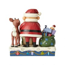 "Rudolph & Santa Look over Santa's List - Jim Shore Christmas Figurine 6.5"" High image 2"