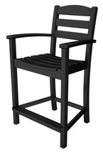 POLYWOOD La Casa Cafe Counter Arm Chair in Black - $305.00