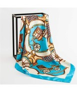 Luxury Brand Women Silk Scarf Square Office Print Pashmina Lady Shawls And Wraps - $5.26