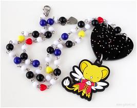 CCS Kero Chan Beaded Anime Necklace, Magical Girl, Kawaii Jewelry, Cosplay - $38.00