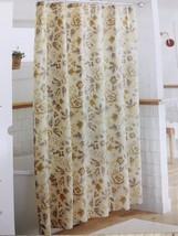 Threshold Floral Shower Curtain New 100% Cotton Sour Cream Neutral Tone ... - $21.00