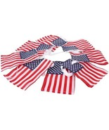 4 x 6 American Flag Pennant 9 Ft Garland Primitives by Kathy - $14.95