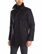 Calvin Klein Mens Jacket Wool Blend Car Coat Charcoal Size L MyAFC - $105.98