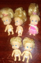 """Tyco Quint Dolls 1990 lot of 5 Blonde 2"""" - $39.59"""