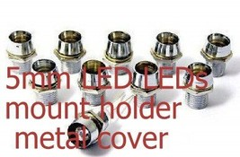 100pcs 5mm LED LEDs mount holder/ metal cover - $13.38