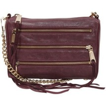 Rebecca Minkoff Mini 5 Zip Leather Crossobody Bag Clutch ~NWT~ Eggplant - $94.05