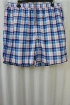 IZOD Mens Swim Shorts Sz XL Blue Plaid Fairy Tale Mesh Lined Drawstring ... - $19.71