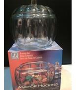 Anchor Hocking  70 OZ.Pumpkin Glass Cookie Candy Jar - $17.82