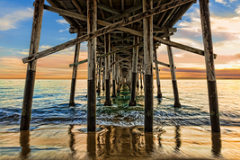 Pier Pilings at Newport Beach, CA, Fine Art Photos, Paper, Metal, Canvas... - $40.00
