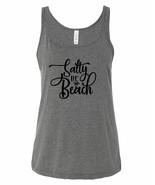 Baecation Mode / Salty Lil' Beach Ladies Relaxed Fit Tank Top Bikini Cov... - $12.82+