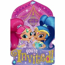 amscan 491653 Shimmer and Shine Invitation Postcards (8 Count), Multicolor - $5.10