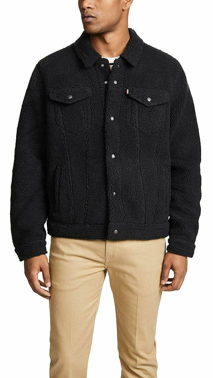 Levi's Strauss Men's Premium Snap Button Sherpa Face Trucker Jacket 577020002