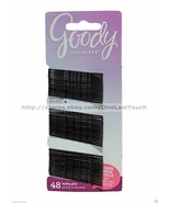 GOODY 48pc Set OUCHLESS BOBBY PINS Comfort Tips For Hair BLACK New! #32966 - $3.99