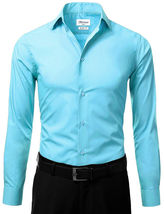 Berlioni Italy Men's Slim-Fit Premium French Convertible Cuff Solid Dress Shirt image 3