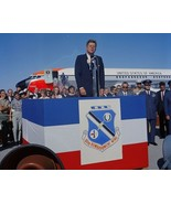 President John F. Kennedy speaks at Castle Air Force Base in California ... - $6.61