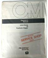 VTG John Deere 31 Posthole Digger Operators Manual Dealer Copy 1970s Agr... - $17.90