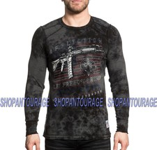 Affliction Full Metal Jacket A19409 Long Sleeve Reversible Thermal Top f... - $58.95