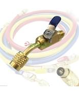 """Brass Shut Valve For AC Charging Hoses HVAC 1/4"""" AC Refrigerant R410a R134a - $9.99"""