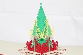 Christmas tree Noel Pop Up Greeting Card Handmade Happy Birthday Anniver... - $4.99