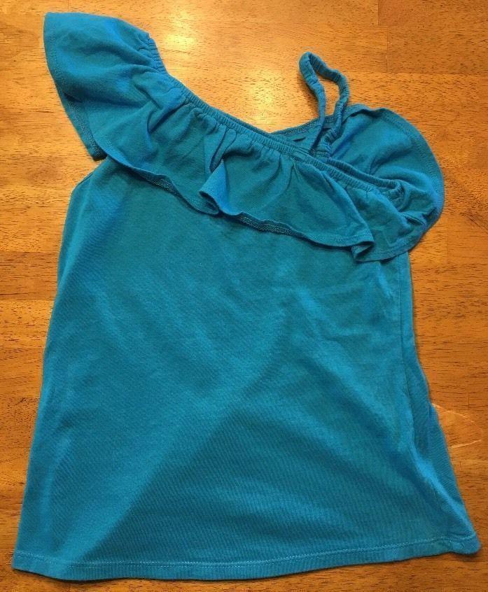 Arizona Girl's Blue One Shoulder Shirt / Blouse - Size: Medium 7/8