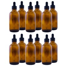 Amber Glass Bottle 4oz with Dropper12 pack - $13.50