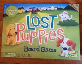 LOST PUPPIES BOARD GAME 2010 PEACEABLE KINGDOM COOPERATIVE GAMES GM105 C... - $15.00
