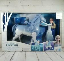 """Hasbro Disney Frozen 2 Elsa & Swim & Walk Nokk Horse Waterproof 11.5"""" Fi... - $25.66"""