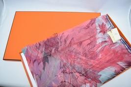 Hermes Shawl Mythique Phoenix 63 x 180 cm Chiffon Silk muslin rose green... - £608.22 GBP