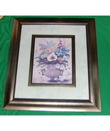 Seasonal Bouquet II Floral Print by Vivian Flasch Very Large 28 x 24 Framed - $29.65