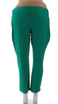 Women with Control Ruched Side Waist Slim Leg Pants Jade P3X NEW A254668 - $18.79