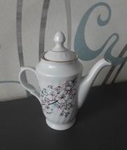 Vintage USSR Soviet Latvia Coffee Tea Pot RIGA Porcelain RPR gold trim f... - $25.00
