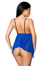 Babydoll Lingerie vestaglia blu reale blu trasparente incl. PERIZOMA LINGERIE image 2