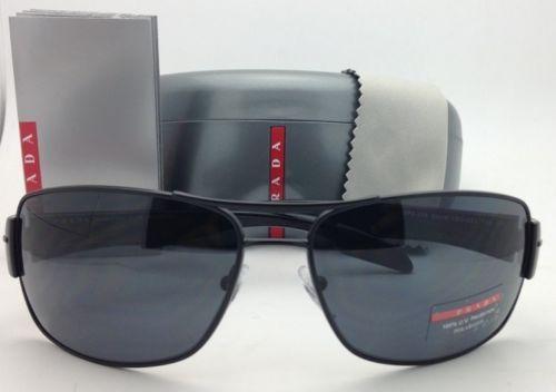 ab017e9afc1f6 Polarized PRADA Sport Sunglasses SPS 53N 1BO-5Z1 65-16 Matte ...