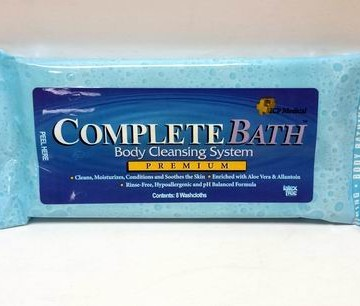 Complete Bath Body Cleansing System – Includes 8 Washcloths / 48 CT