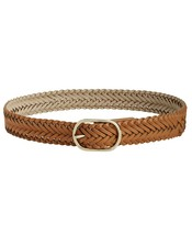 Small Cognac Tan ⭐Designer INC International Concepts  Braided Pant Belt - $17.77