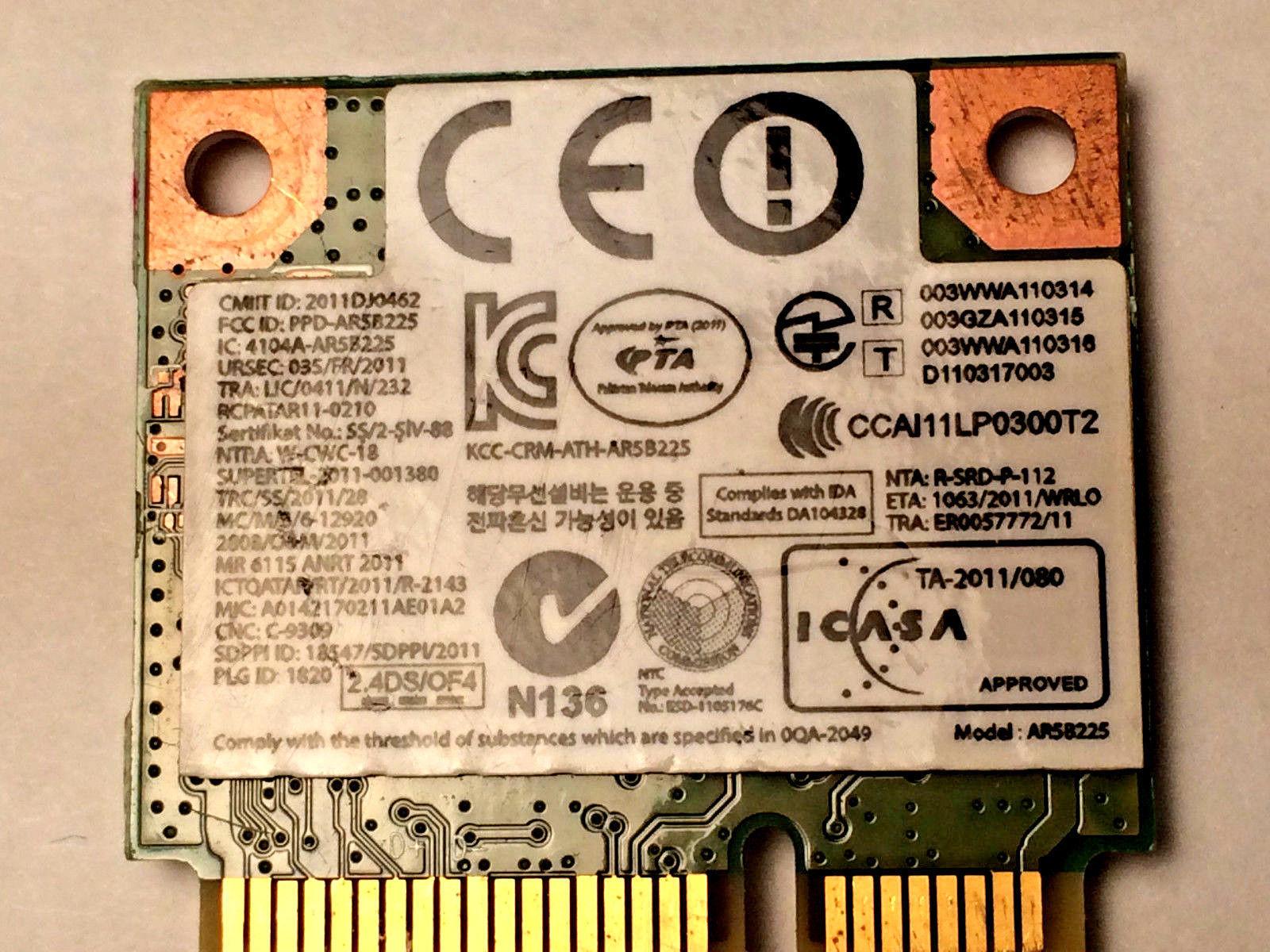 Samsung BA92-08418A b/g/n Wireless BT 4.0 PCIe Half Atheros AR5B225 OEM