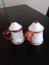 Vintage Stein Shape Rooster Salt & Pepper Made in Japan image 4