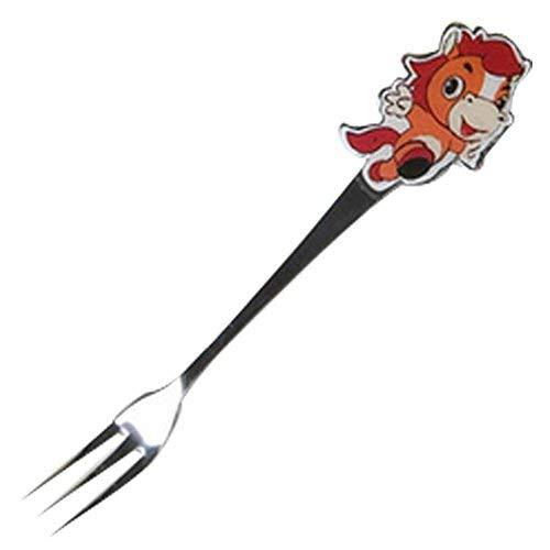 Panda Superstore 3 Pcs Cartoon Horse Children Tableware Stainless Fruit Fork Cut